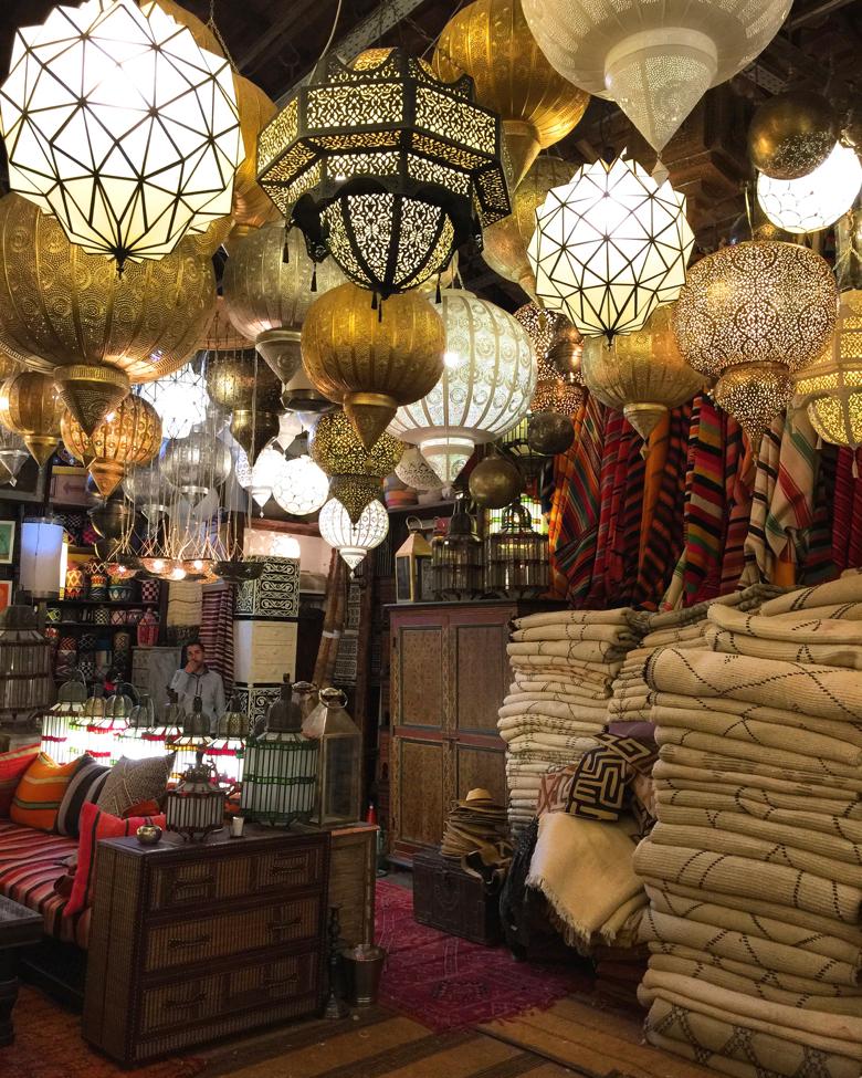 Shopping in the Medina. Marrakech, Morocco