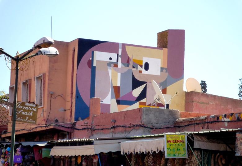 Street art in Marrakech, Morocco