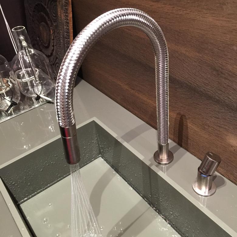 gessi-basket weave kitchen faucet