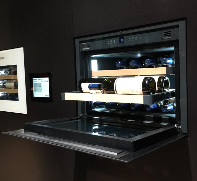 This Liebherr wine refrigerator holds 18 bottles