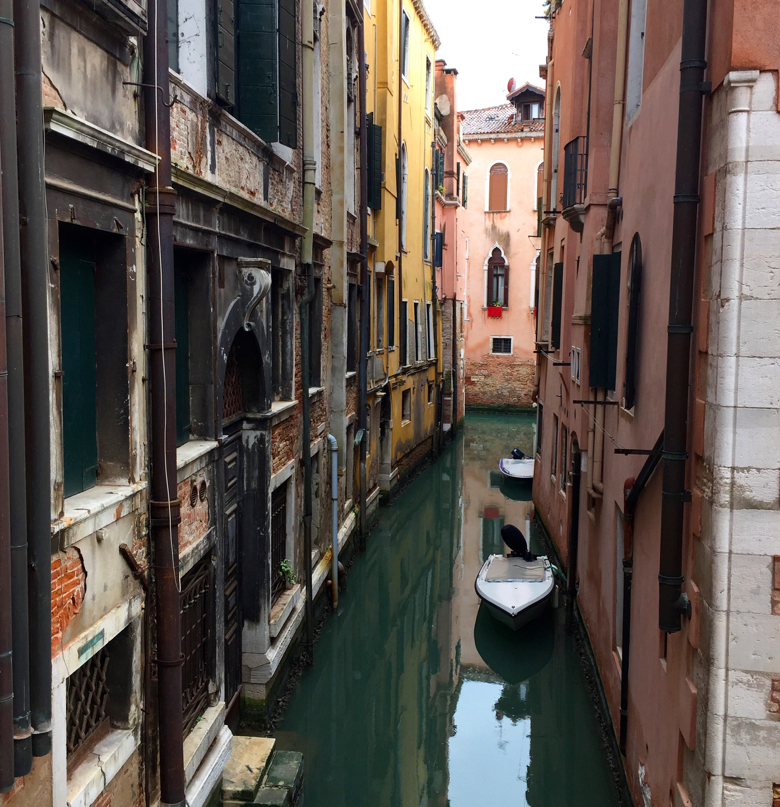 View from the private apartment we rented, the Calle Avvocati, for my stay in Venice