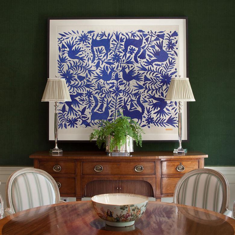 Framed textile by St. Frank