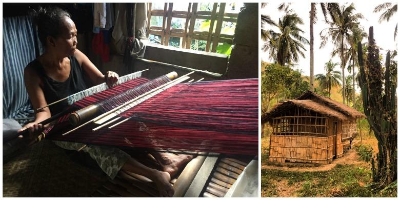 Mangyan woman hand weaving Handa Textiles