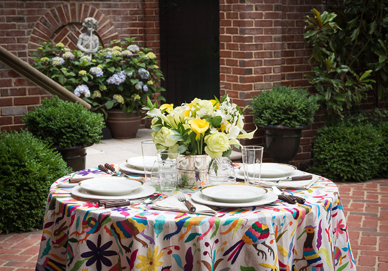 st frank tablecloth multicolor
