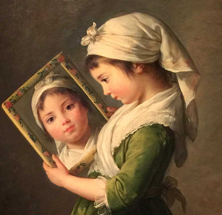Detail from a portrait by Vigee Le Brun of her daughter Julie