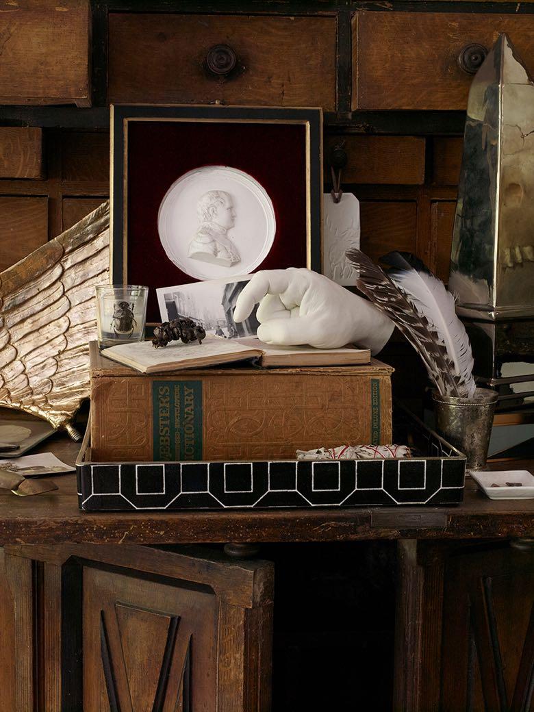 Vignette in Collin's Robison's living room. Photo by Ellen McDermott.