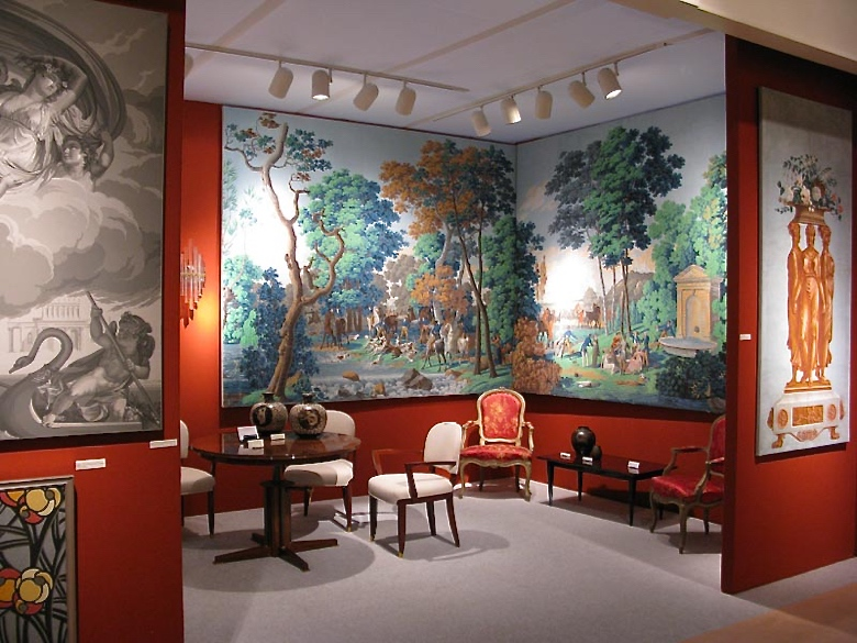 Carolle Thibaut-Pomerantz's booth at the 2013 Winter Antiques Show