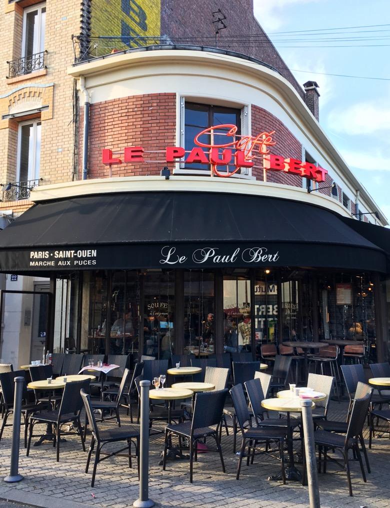 Cafe at the Paris Flea Market