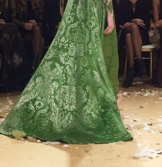 Valentino gown in the Fortuny fabric for the Spring/Summer 2016 season