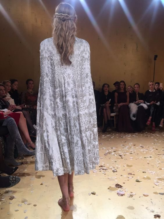 Valentino in Fortuny fabric, S/S 2016