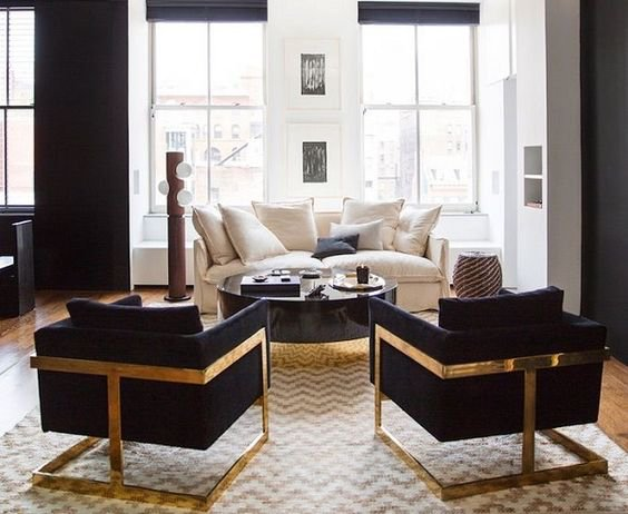 Milo Baughman chairs in Nate Berkus' home