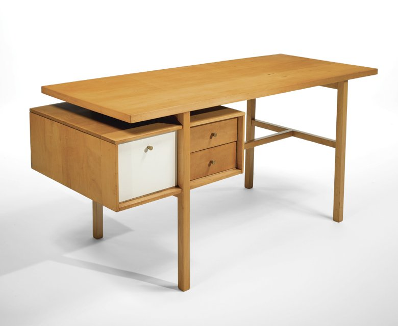 "Milo Baughman desk for Winchendon include in the 1985 exhibition by the Whitney Museum, ""High Styles: Twentieth Century Furniture Design"