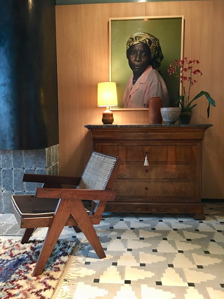 Interior design by Neal Beckstedt for the 45th Kips Bay Show House, chair by Pierre Jeanneret