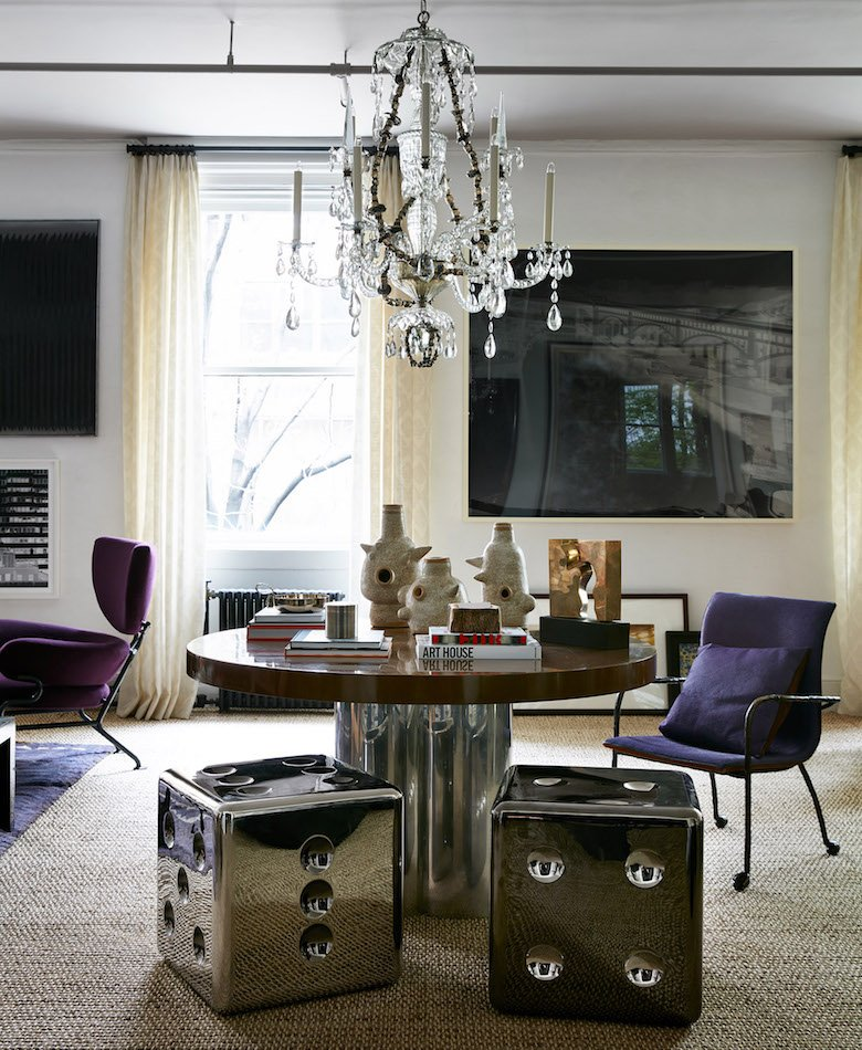 Interior design by Rob Stilin for the 45th Kips Bay Show House. Chair in foreground by Mattia Bonetti