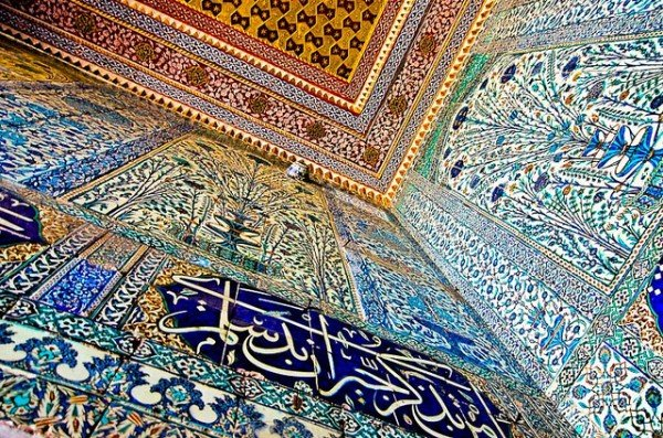 The Privy Chamber of Murat III in Instanbul's Topkapi Palace with its incredible Iznik tiles that date from the 16th century