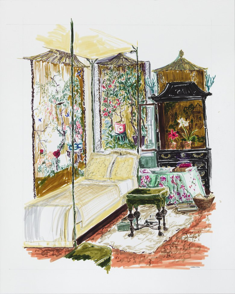 Pauline de Rothschild's bedroom from How They Decorated by P. Gaye Tapp