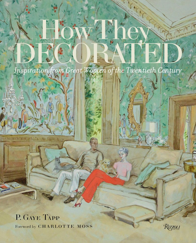Mona Williams and Harrison Williams in Cecil Beaton's painting of their Syrie Maugham decorated living room graces the cover of How They Decorated