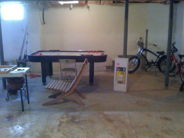 Montauk basement before