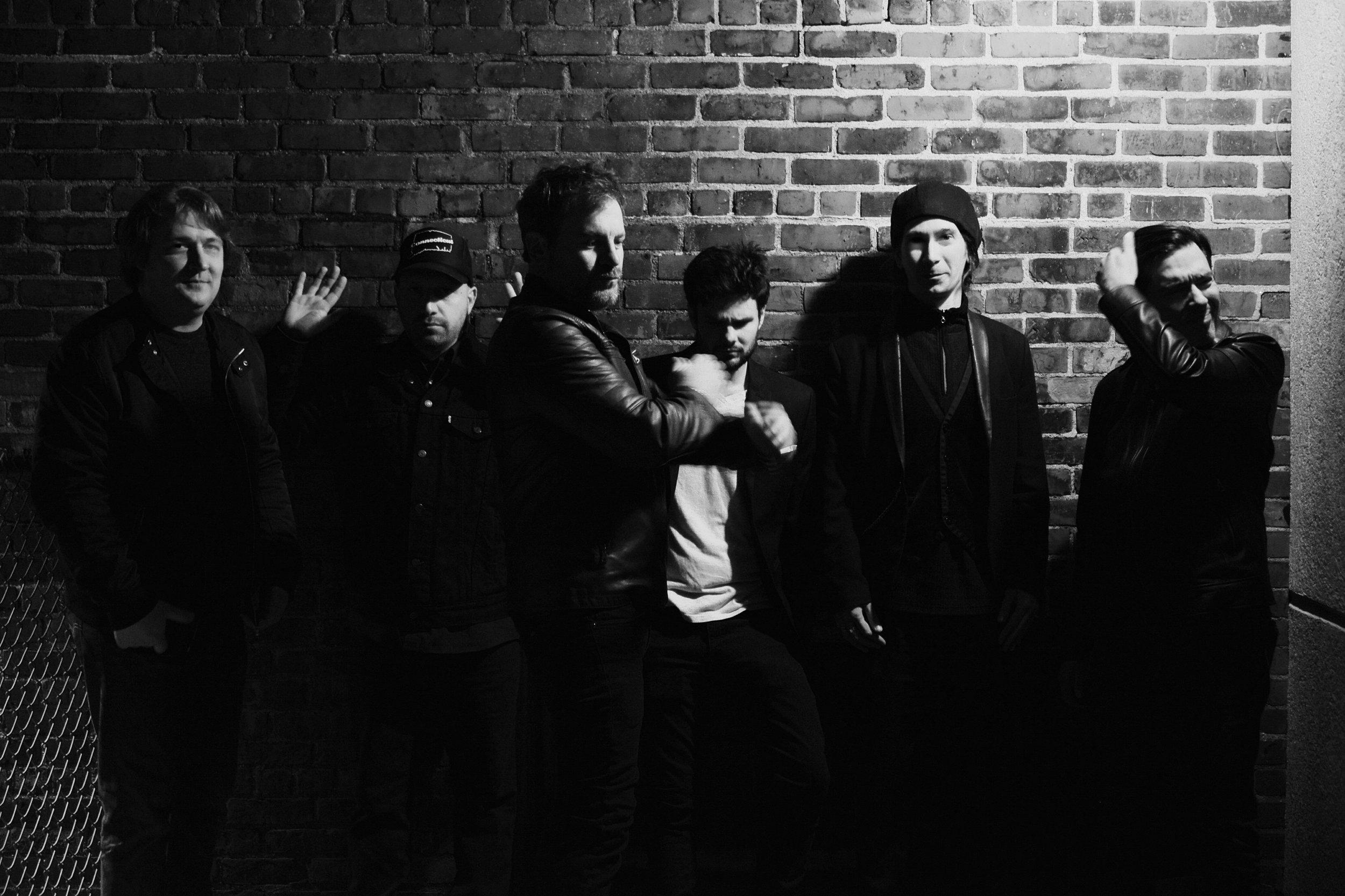 L-R: Jason Banta, J Curland, Bobby Crash, Max Kelly, Matt Gouette, Pete Barrera