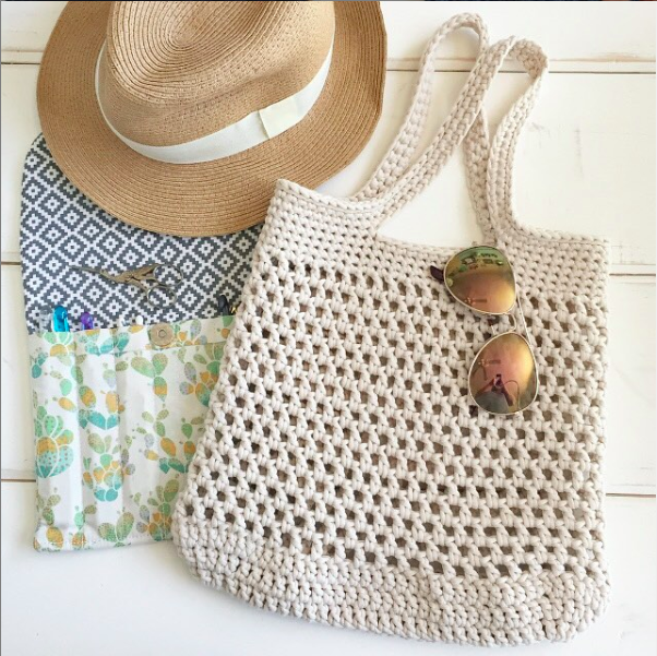 Get your copy of the Market Tote pattern  here