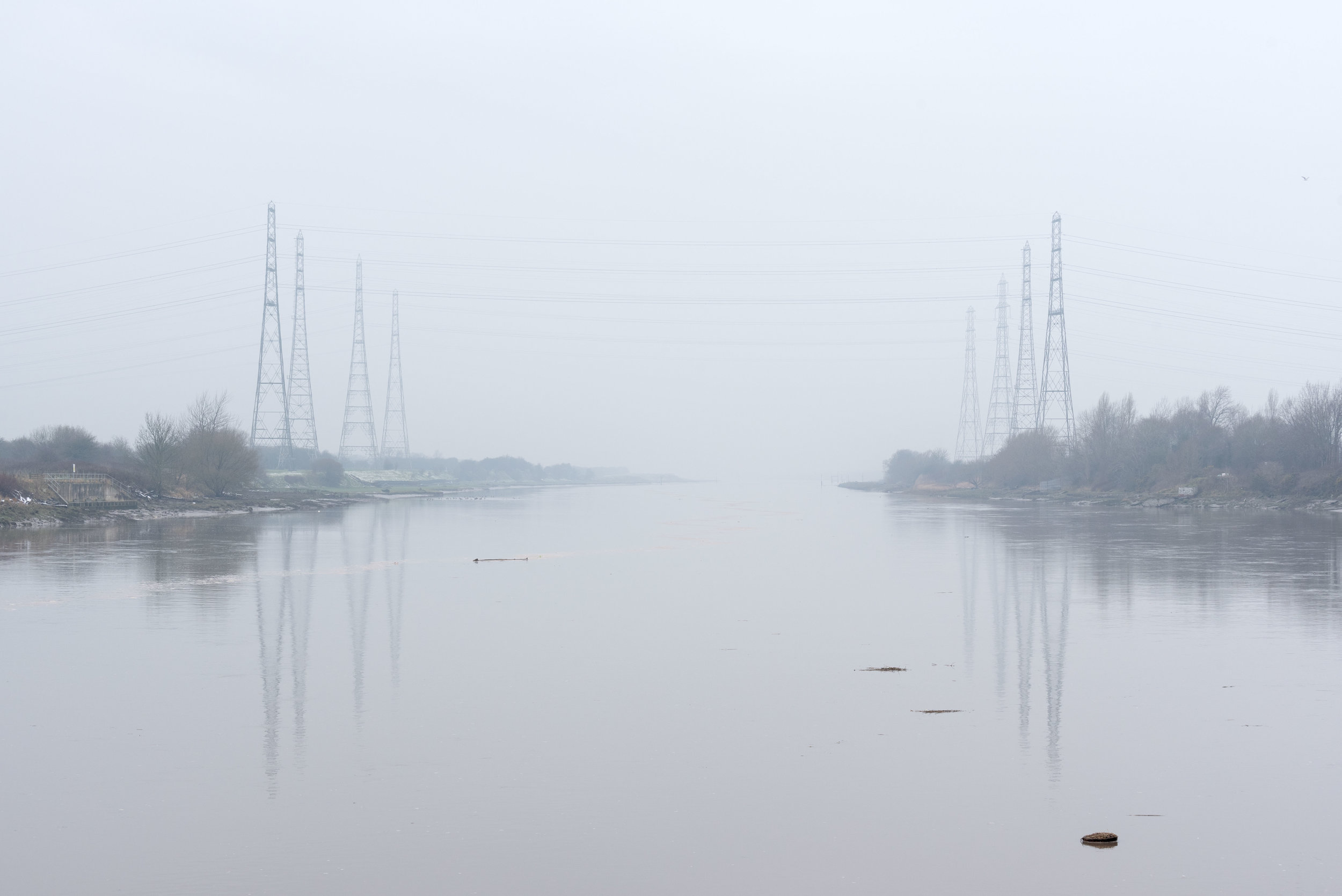 Current - a view downstream of the Ribble as the tide rapidly rises