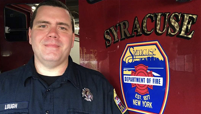 Don Lough, a Call9 Clinical Care Specialist, is also a Syracuse firefighter.