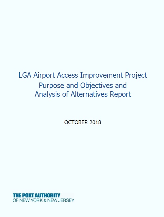 PANYNJ's Purpose and Objectives and Analysis of Alternatives Report  (PDF, October 2018)