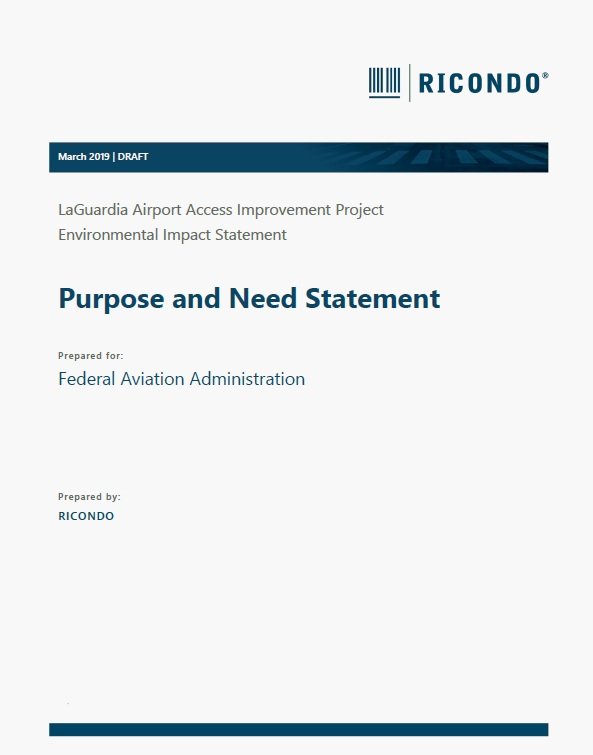 Purpose and Need Statement  (PDF, 1 MB, March 2019)
