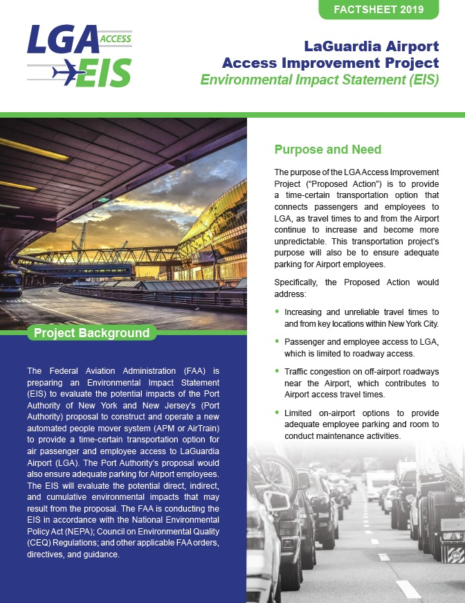 Project Factsheet  (PDF, 4 MB, May 2019)
