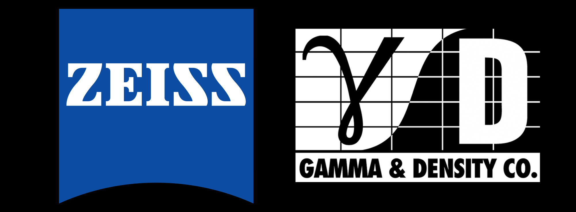 G.C.I. Sponsor Logos: Zeiss Lenses and Gamma & Density Company