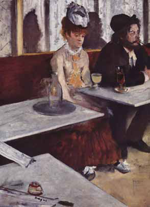 Cinematic Composition in Degas,  L'Absinthe , 1876