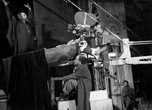 Director Sergei Eisenstein and DP Andrei Moskvin in 1941, shooting  Ivan The Terrible