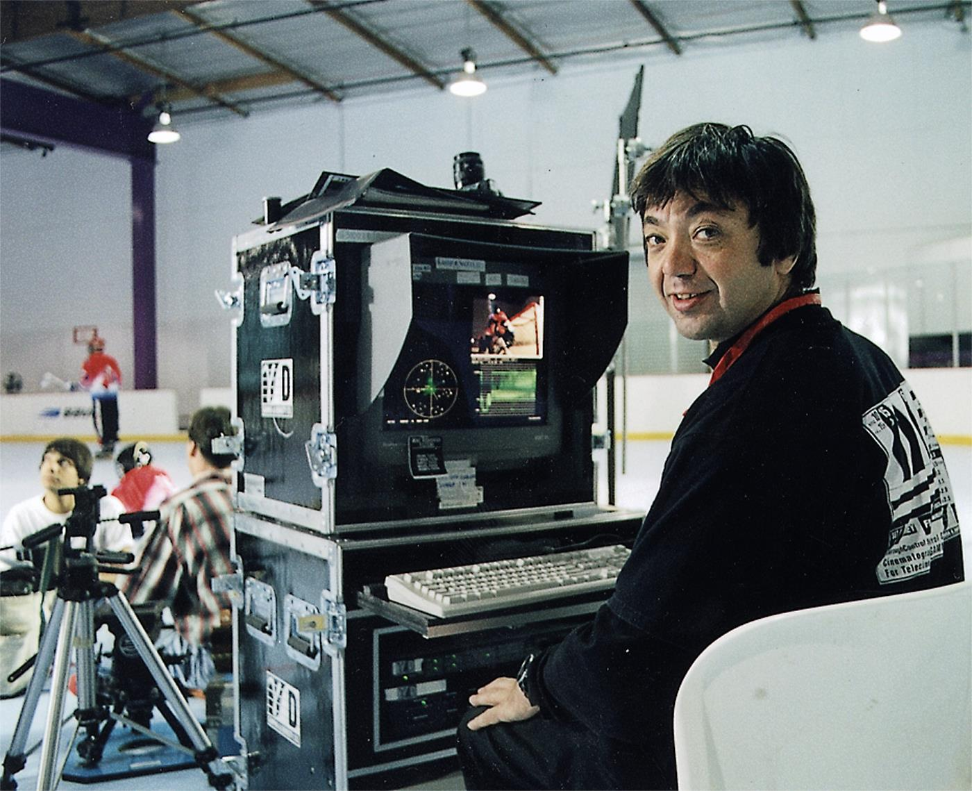 Yuri Neyman, ASC on-set with the first Gamma & Density Co color correction system.