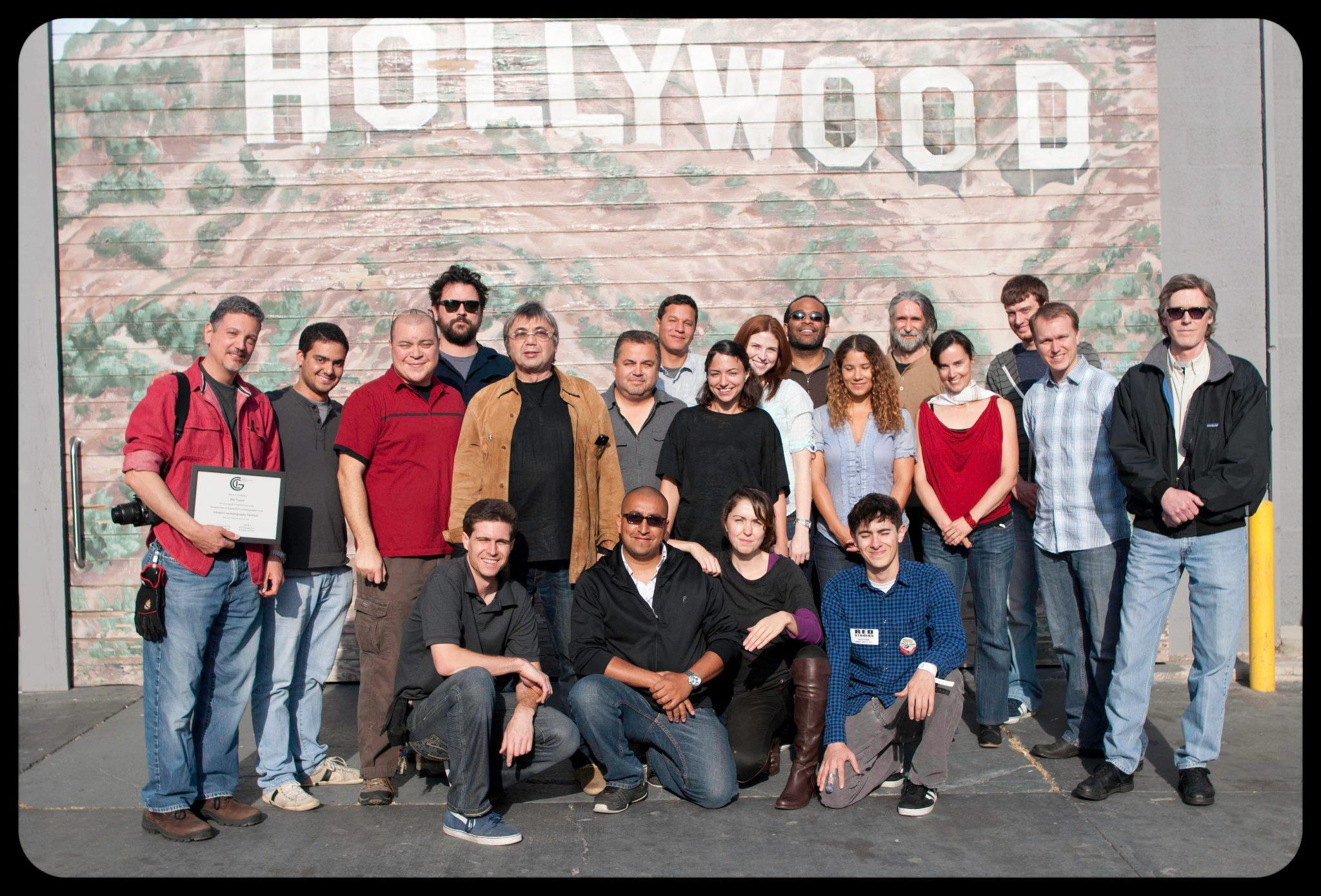Yuri Neyman, ASC with the first class of students at Global Cinematography Institute.