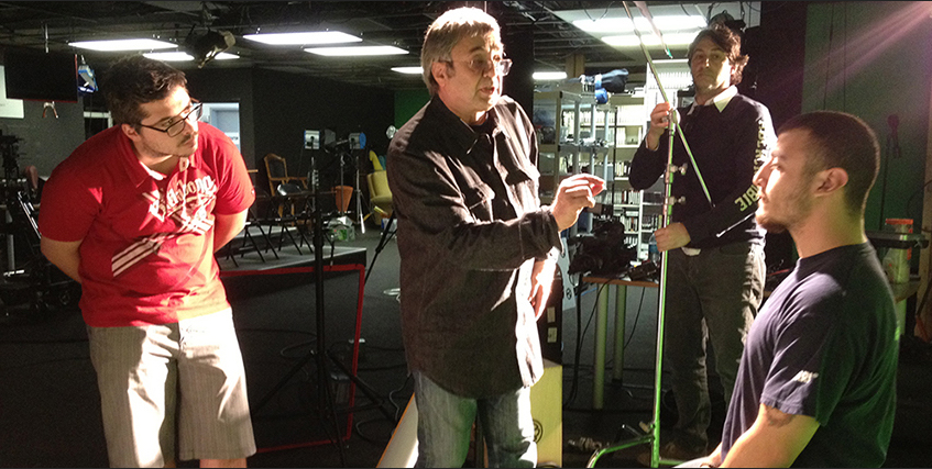 Yuri Neyman, ASC teaching lighting and composition to students at Global Cinematography Institute.