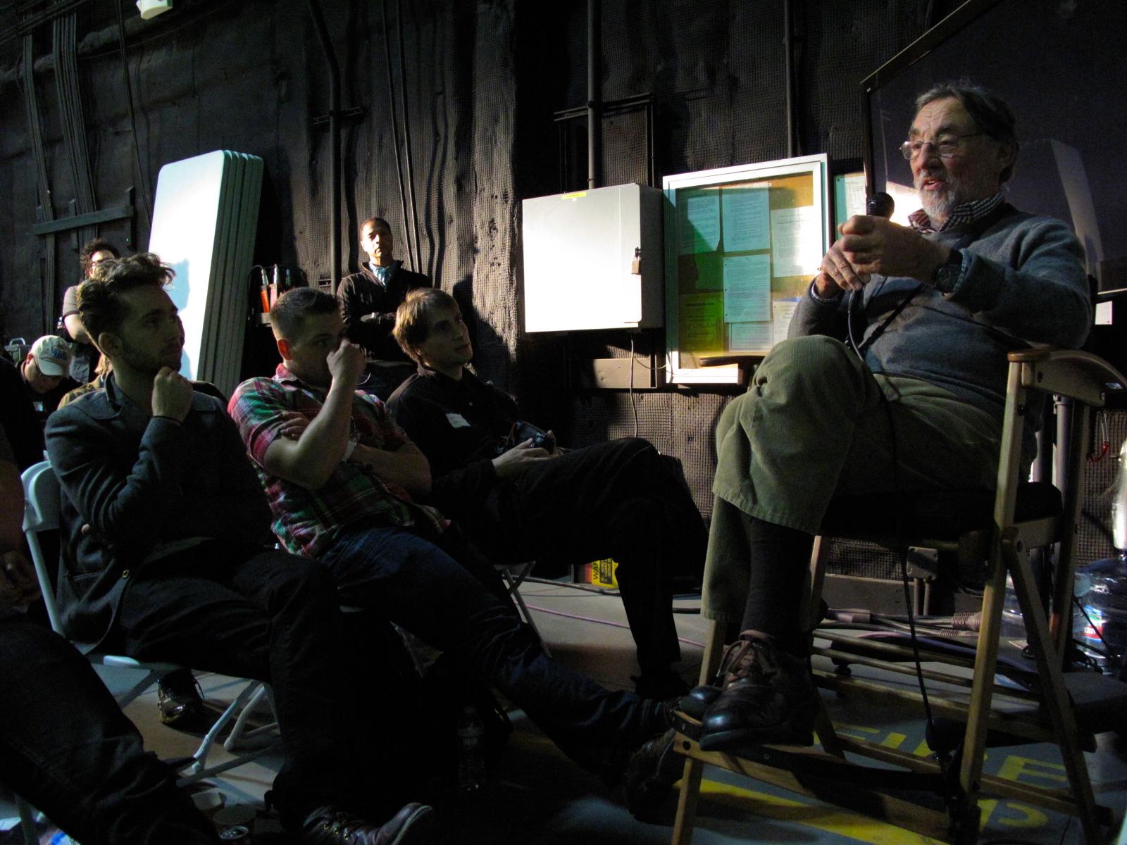 Vilmos Zsigmond, ASC teaching students lighting at G.C.I.