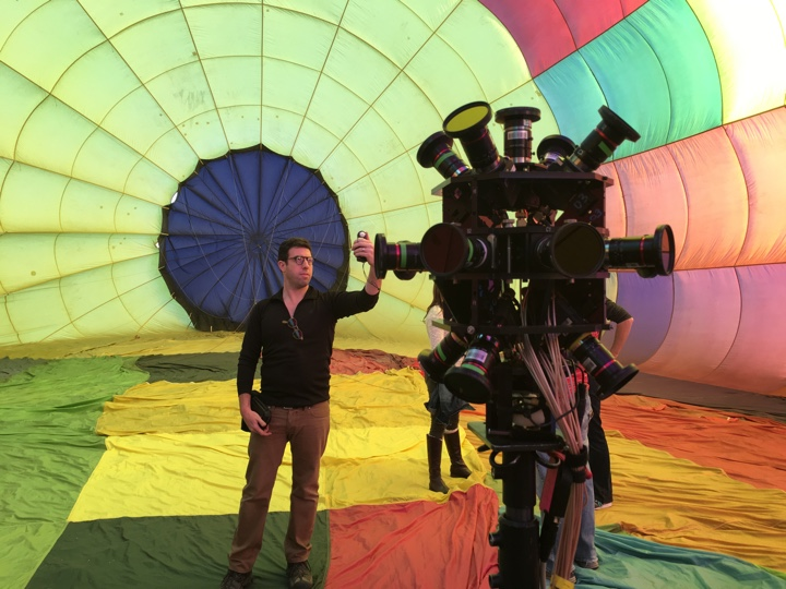 Andrew Shulkind on set with 360 Rig
