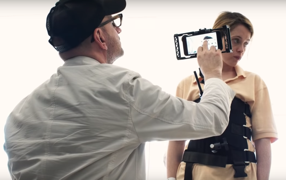 """Steven Soderbergh using iPhone on the set of """"Unsane"""""""