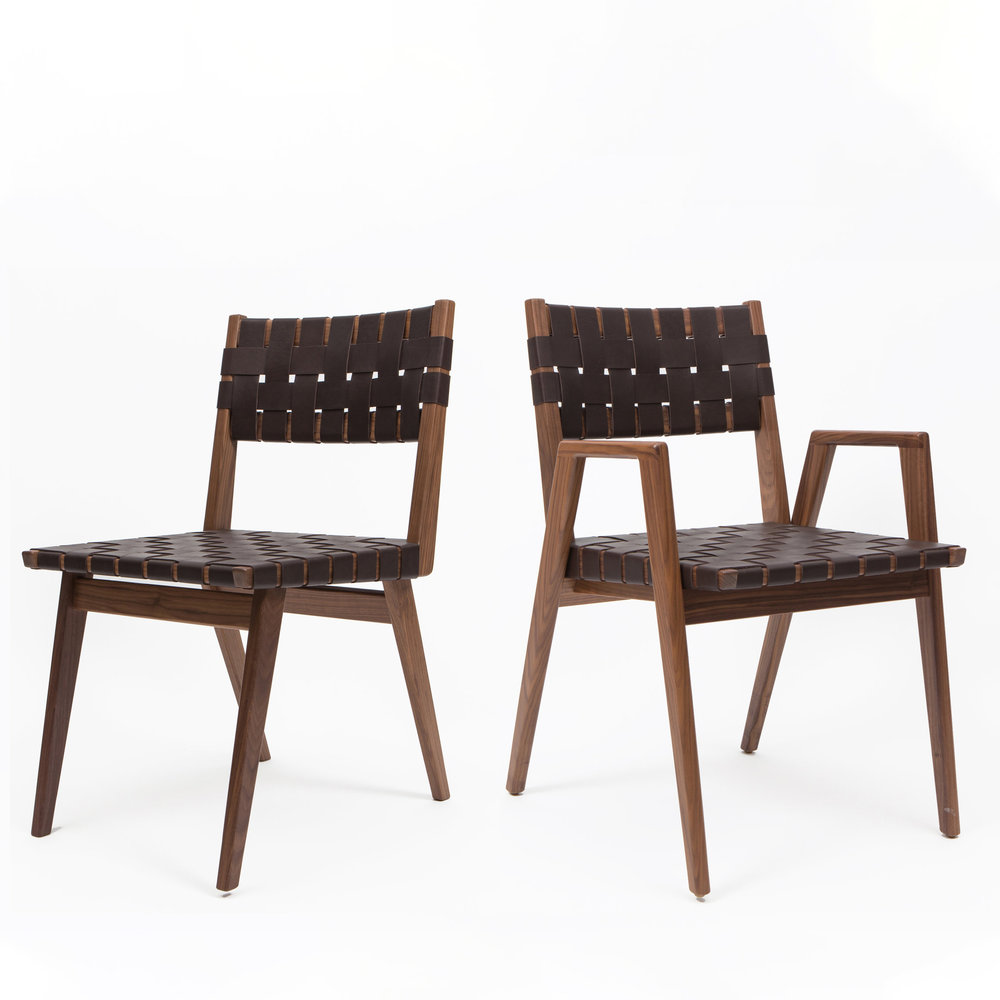 Woven Leather Dining Chairs Wdc 400 Wdc 600 Smilow Design