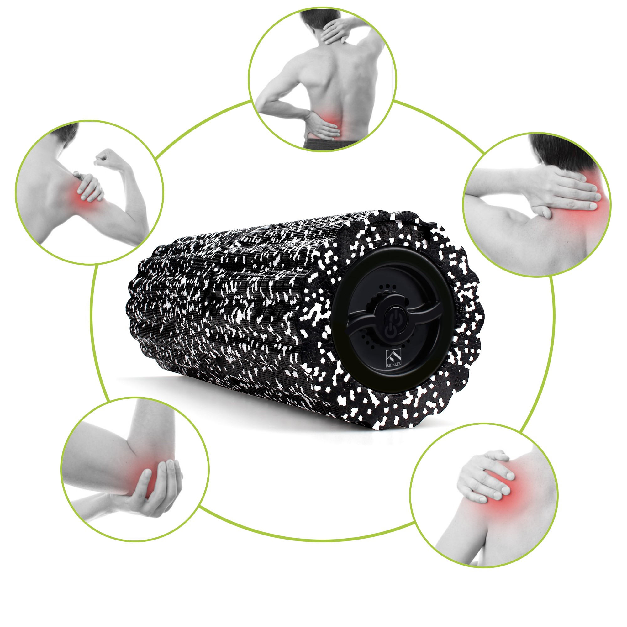 Healthcare Companion - Vibration Foam Roller is your healthcare companion, which can help you relax and heal soreness, promote better circulation, keep muscles loose and flexible, increase pliability and keep away from muscle soreness.