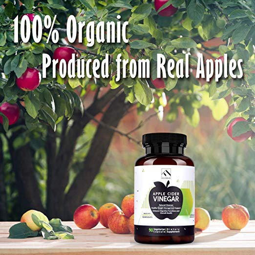 Made form 100% Fresh Apples - NO TASTE OR NO DISCOMFORT – Apple Cider Vinegar has a harsh sour taste when taking it as a liquid. For most people the high acidity can also erode tooth enamel. FITINDEX's vegan flavorless apple cider vinegar pills allow you to get the benefits of apple cider vinegar without any of the drawbacks.