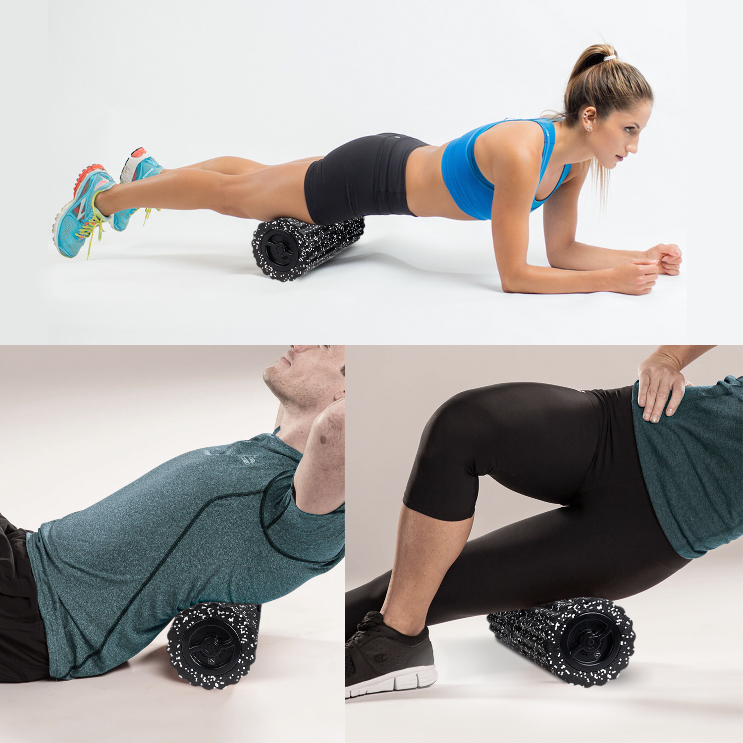 SPORTS COMPANION - The new generation massage foam roller is suitable for the people who have muscle soreness after Running, Yoga, Climbing, Weightlifting, Martial Arts, Cycling, Boxing, etc.