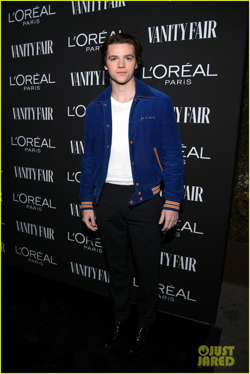 Just Jared Jr's Photo of Joel at the Vanity Fair and L'Oreal Paris Celebrate New Hollywood Party.    Joel  is wearing a  Saint Laurent  jacket,  Kelly Cole  shirt,  Theory  pants and  Calvin Klein  shoes.