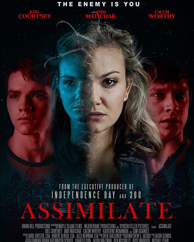 So a few years ago I had the immense pleasure of filming #AssimilateMovie with my dear friends @calumworthy and @andimatichak. AND ITS COMING OUT!!!!! It's doing a limited release in theaters, so the easiest way to get it will definitely be on iTunes. AAAAND guess what? I already put that link out on my bio. So go check it out and watch it on the 24th if this month!!!! 😱 #beyondexcited