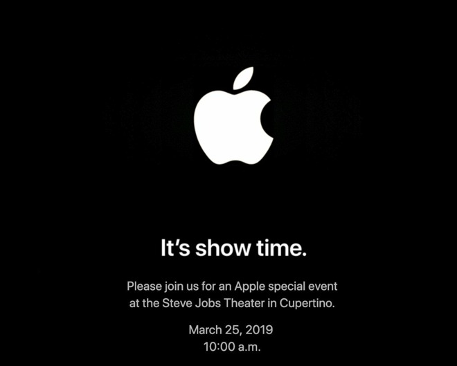 Apple's 2019 event invitation.