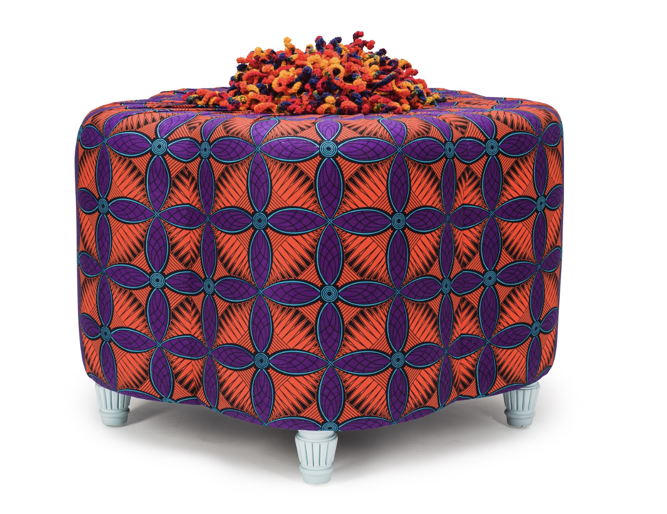 Afro-footsie ottoman available here.  For more info about the our African Prints,  click here!   .........................................................................................................   For our most updated content, be sure to follow us on Instagram ( @ulloo42 ) and like our  Facebook  page!  You can browse the rest of our fabulous furniture and artwork at  ulloo42.com .