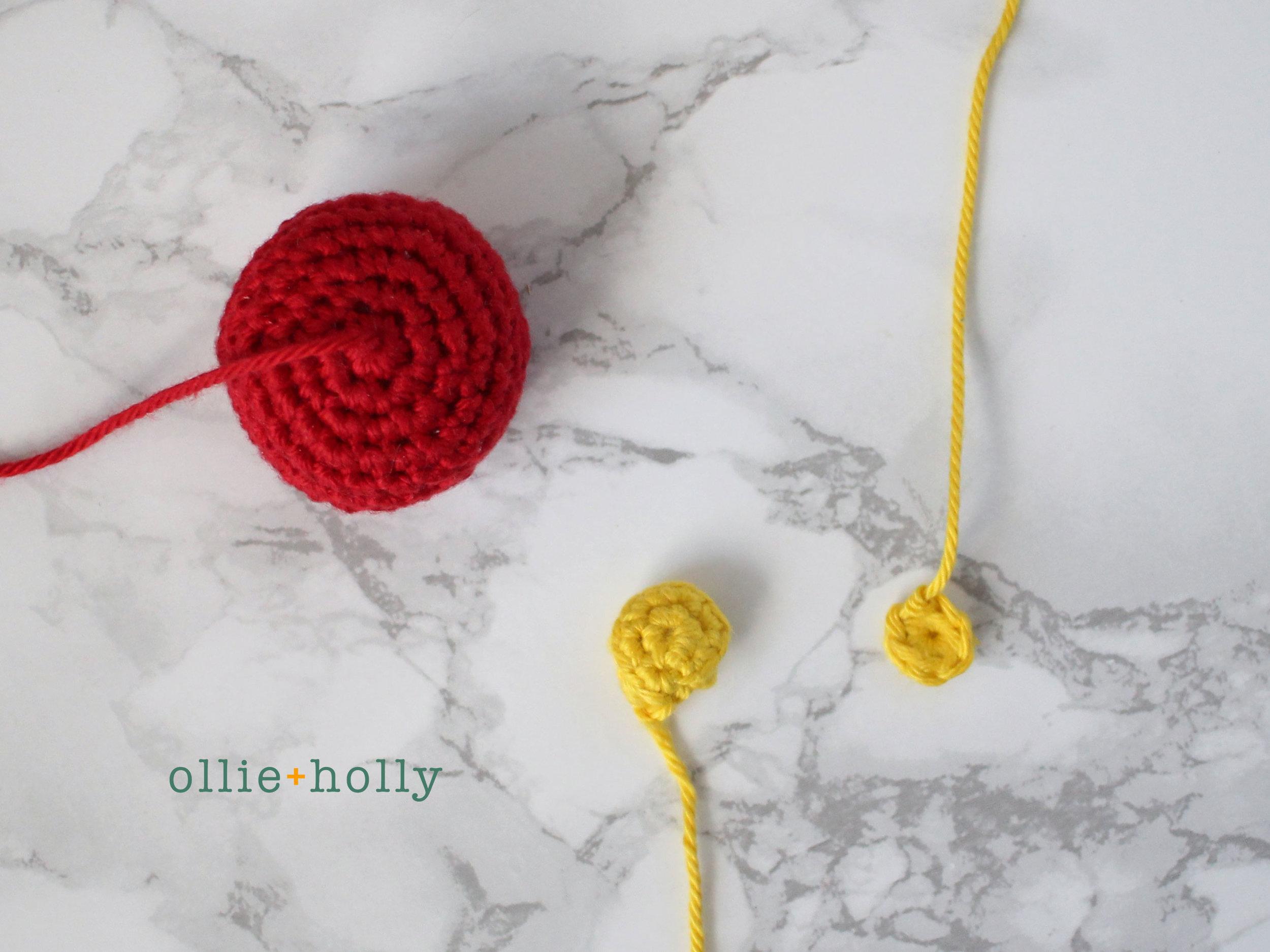 Chinese Lantern Amigurumi Crochet Blog Post Step 1-3