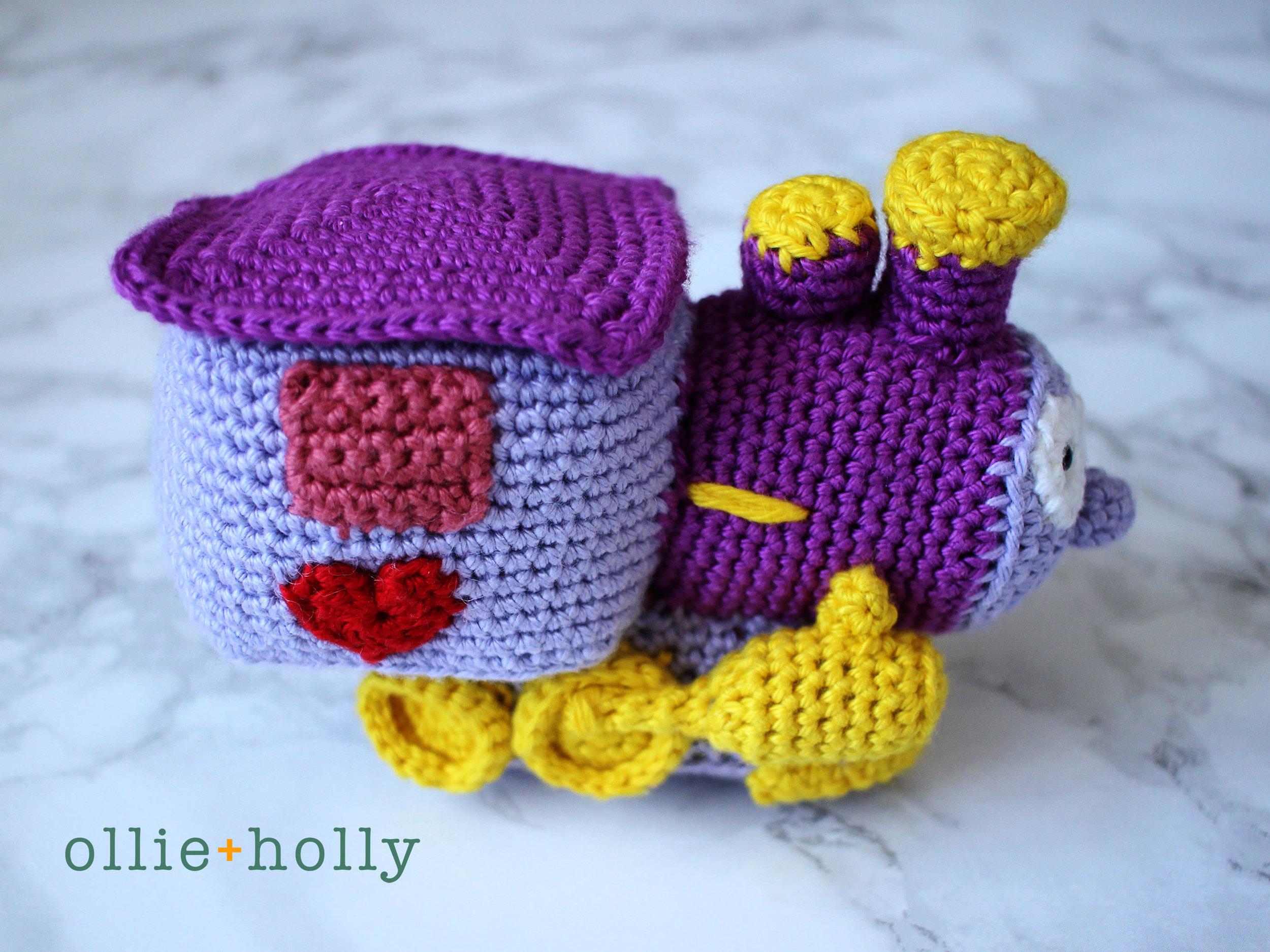 The Simpsons I Choo Choo Choose You Crochet Amigurumi Pattern Side View