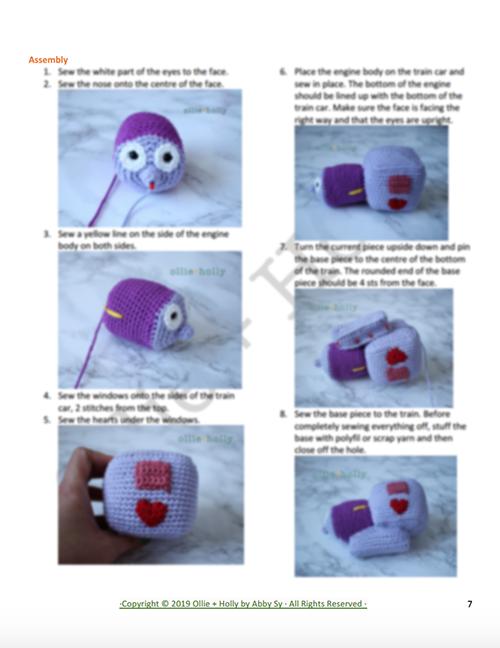 The Simpsons I Choo Choo Choose You Crochet Amigurumi Pattern Instructions Part 2