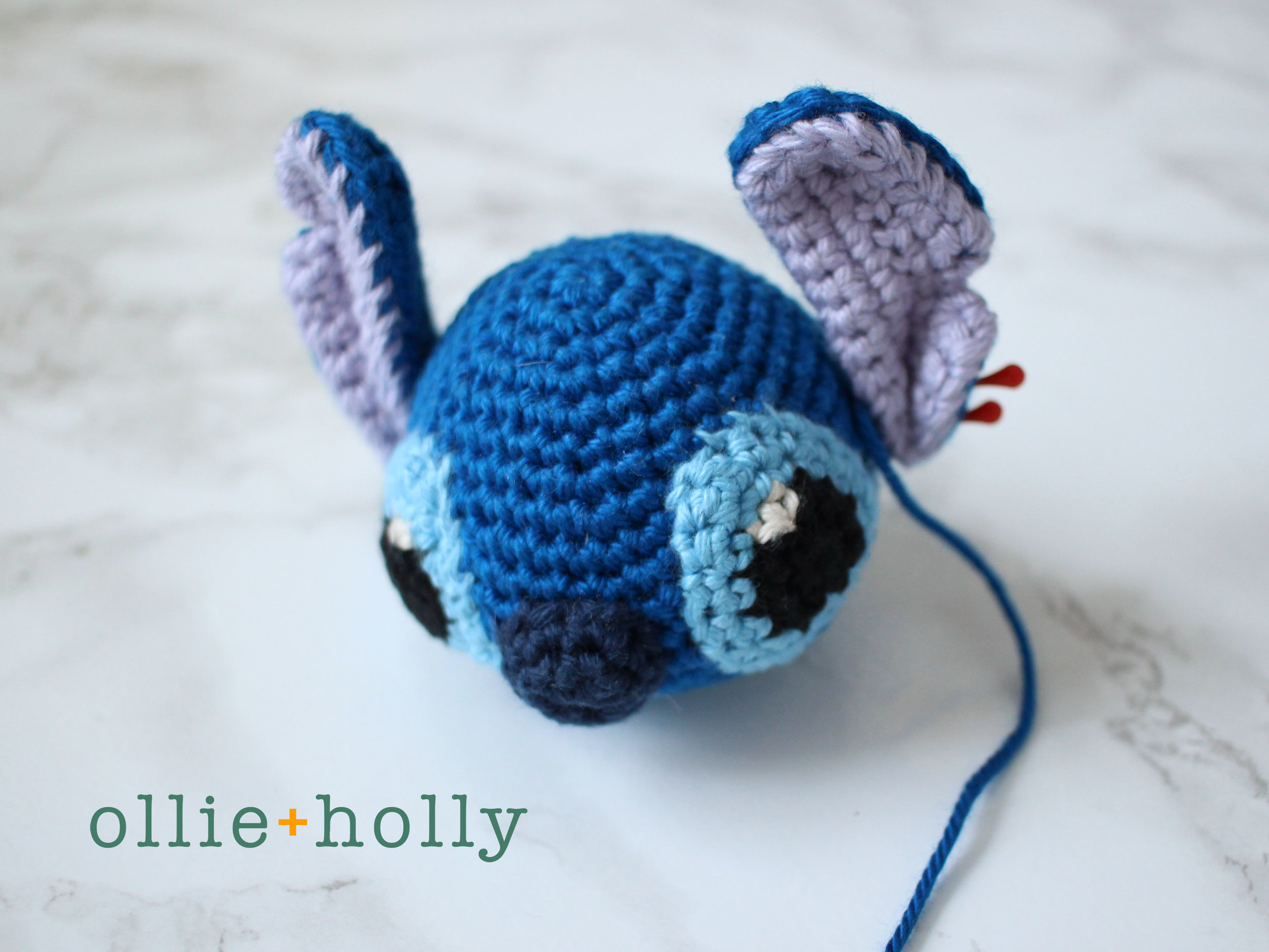 Free Lilo and Stitch Amigurumi Crochet Keychain Pattern Step 10
